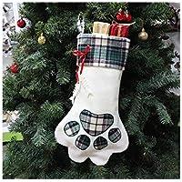 Grandes Ideas de Navidad Pata de Perro Imprimir Calcetines de Navidad Embalaje Decoración Adornos de árbol