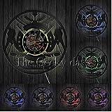 Yang Jingkai Hockey su Ghiaccio Disco in Vinile Orologio da Parete Giocatori di Hockey Orologio Decorativo Silenzioso Orologio Amanti degli Hockey Sala da Pranzo Decor Studio Decor LED