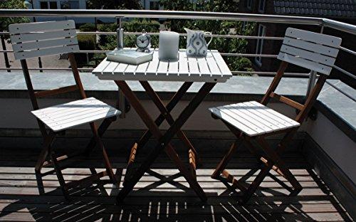 Balkon-Set 'Wien' BALKONSET NATUR/ WEISS WIEN 55820