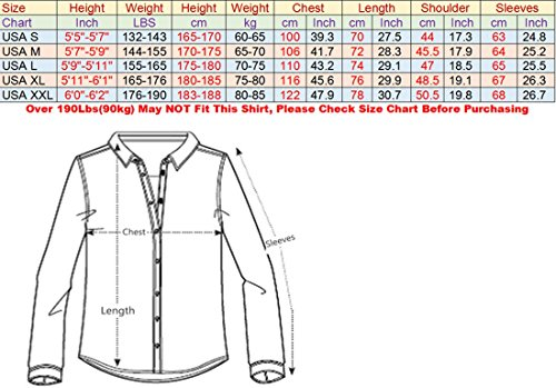 Jeansian Homme Chemises Casual Manches Longues Mode Men Tops Shirt Fashion Long Sleeves Slim Fit Dress Shirt 8615 red