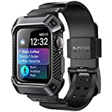 SUPCASE Apple Watch 4 Armband 44mm Apple Watch Band Robust Hülle Ersazarmband Sport iWatch Case Schutzhülle [Unicorn Beetle Pro] für Apple Watch Series 4 [44mm] 2018 Ausgabe (Schwarz)