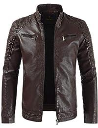 Uomo Abbigliamento it Giubbotto Di 4121320031 Amazon Pelle vWa1wqwI