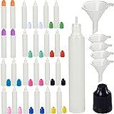 10ML/20ML/30ML/50ML/100ML/Dropper Squeezable Bottiglia Eye liquido contagocce a punta d'ago con Loop (25pcs Pack, colorato)