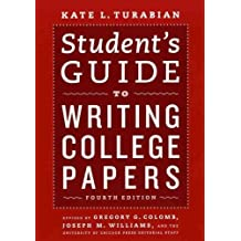 (STUDENT'S GUIDE TO WRITING COLLEGE PAPERS ) BY Turabian, Kate L. (Author) Paperback Published on (04 , 2010)