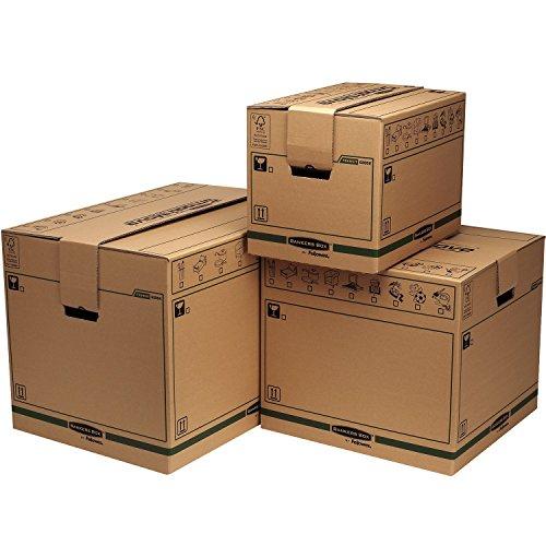 Bankers Box SmoothMove FastFold Umzugskiste (Extra Große) 5er-Pack - 3