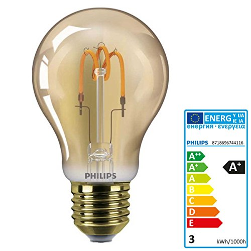 Philips Classic LEDBulb SP ND 2.3-14W E27 GOLD A60CL LED-Lampe (Zeichnen Sie Ein Sp)