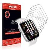 MASCHERI Pellicola Protettiva Per Apple Watch 38mm / 40mm, [6 Pezzi] Pelle liquida [Anti Bubble] HD Clear film Per Apple Watch Series 4/3/2/1