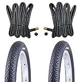 2 x Kenda Reifen Fahrradreifen 14 Zoll 47-254 14 x 1.75 inklusive 2 x Schlauch mit Autoventil