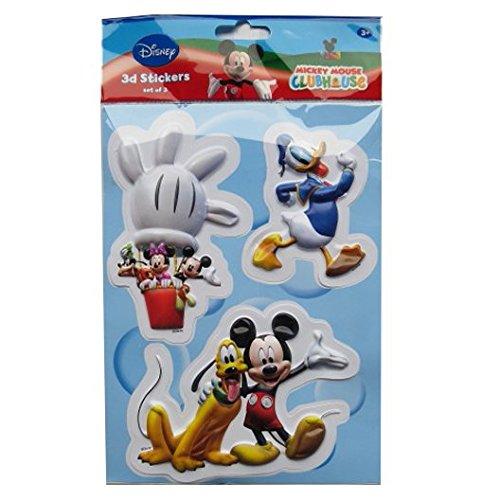 Disney Bunte 3D-Dekoration Aufkleber - Micky Maus und Freunde