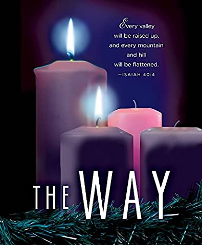 The Way Advent Candle Sunday 2 Bulletin, Large, Pkg of 50: Package of 50