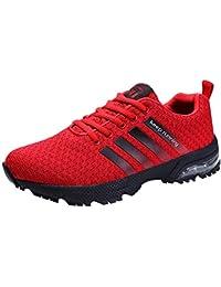 b05a64ebce5 Homme Femme Chaussures de Sport Respirantes Plein Air Sneaker Running Shoes  pour Trail Entraînement Course Gym Fitness Jogging Basket…