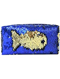 a51daa0a11de Childplaymate 1pc Glitter Sequins Cosmetic Bag Bicolor Reversible  Pencilcase Handbag Kit