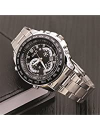 Skylofts Stainless Steel Mens Boys Stylish Analog Watch With Date Feature