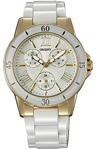 Orient Women's Analogue Quartz Watch with Ceramic Strap FUT0F003S0