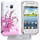Yousave Accessories SA-EA02-Z265 Coque en gel/silicone pour Samsung Galaxy Young Motif Floraux Abeille Rose/Blanc