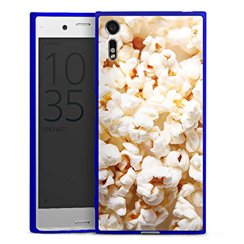 Sony Xperia XZs Slim Case transparent blau Silikon Hülle Schutzhülle Kino Popcorn Poppin Corn