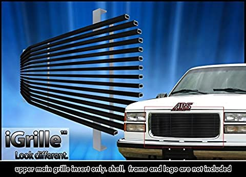 Fits 1994-1999 GMC Sierra Pickup/Suburban/Yukon Black Stainless Steel Billet Grille Grill #G85012J by