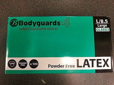 Polyco Bodyguards4 Powder Free Disposable Latex Gloves Medium Ref GL8882 [Pack 100]