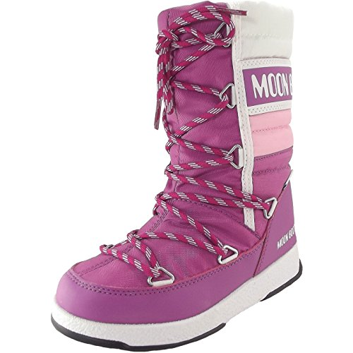 Moon Boot Quilted Jr WP 34051500004 Mädchen Winterstiefel, Orchidee/Rosa/Weiss, Gr. 27