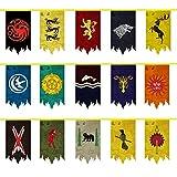 Juego de Tronos Wall Banner, Juego de Tronos flas de Pared, Regalo de cumpleaños, 5M y 15PCS