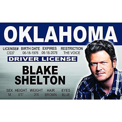Preisvergleich Produktbild Schilder 4 Fun Ncidbs Blake Shelton's Driver's License