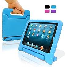 KHOMO ® Funda de Goma Protectora Antichoque para Niños Celeste - iPad Mini - Azul