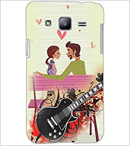 PrintDhaba Couple with Guitar D-4100 Back Case Cover for SAMSUNG GALAXY J2 (Multi-Coloured)