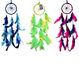 #10: AsianHobbyCrafts Dream Catcher Wall Hanging : Set of 3pcs :Size (LxB) 25x8 cm