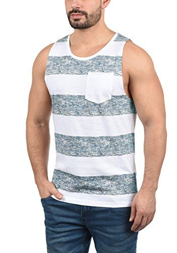 Blend 20706887ME Viva Herren Tank-Top Muskelshirt Fitness-Shirt mit Rundhals-Ausschnitt aus 100{8192ca1511cda45a5489b39f22144064ce51476e8c538eb9299007da7026ec28} Baumwolle, Größe:M, Farbe:Ensign Blue (70260)