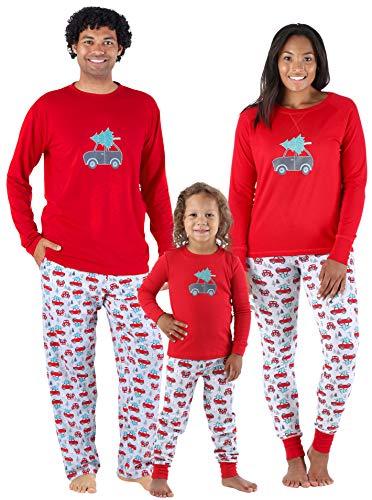 Sleepyheads Sets Familiares de Pijamas de Invierno para Navidades a Juego Azul Marino con Copos de Nieve (SHM-5011-M-EU-LRG)