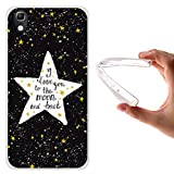 WoowCase Alcatel Idol 4 Hülle, Handyhülle Silikon für [ Alcatel Idol 4 ] Star Satz - I Love You to The Moon and Back Handytasche Handy Cover Case Schutzhülle Flexible TPU - Transparent