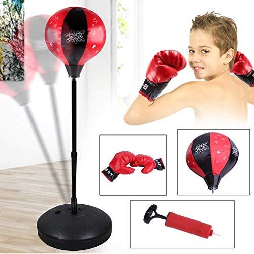 Punchingball Boxen Set mit Boxhandschuhen & Pumpe für Kinder Jugend höhenverstellbar von 72 bis 108 cm Punching Training Standbox Standboxsack