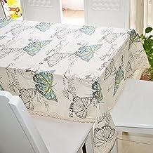 Miaoben Mantel Elegante con Dibujo de Mariposa de Colores Tela de Cubierta para Mesa de Comedor y Café