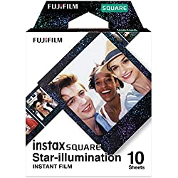 Instax Lot de 10 Films carrés pour éclairage étoilé