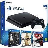 Playstation 4 Consola PS4 Slim 1Tb + 5 Juegos - The Last of us + God of war 3 + Uncharted Nathan Drake Collection - MEGAPACK