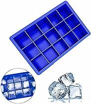 قوالب مكعبات الثلج من شوبنيك المصنوعة من السيليكون ومكعبات الثلج المربعة مكونة من 15 تجويف للفريزر، قالب ثلج م