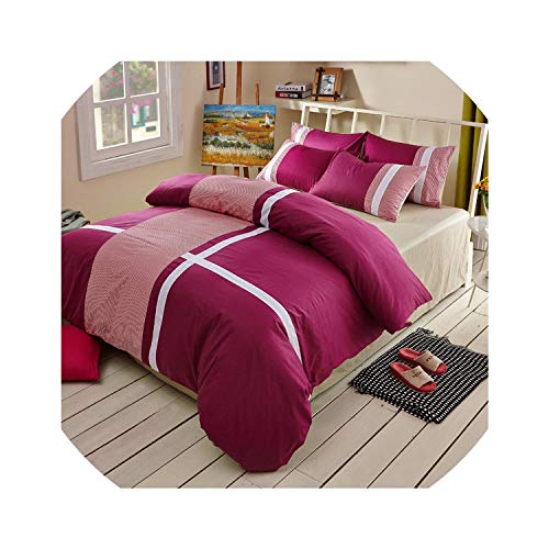 Kingwhisht Bedspreads Tagesdecken, Kreuzstreifen-Stil, 100% Baumwolle, 4 Stück, braun, King Size - Cal-king-6 Stück