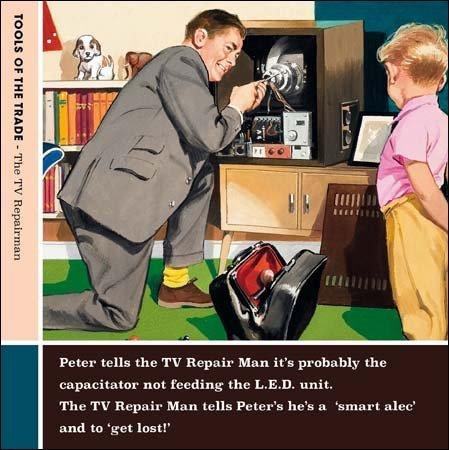 humorous-greeting-card-cm8552-blank-birthday-the-tv-repairman-tools-of-the-trade