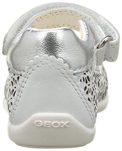 Geox B Kaytan E Baby Mädchen Lauflernschuhe Weiß (White/silverc0007)