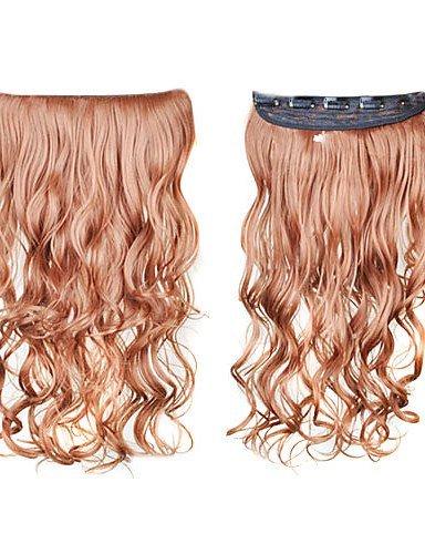 le clip dans la synthèse des extensions de cheveux bouclés avec 5 clips - 6 couleurs disponibles , golden brown