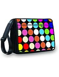 """Mysleevedesign Laptop Messenger Bag Notebook Shoulder Bag 17"""" / 17.3"""" - Carry Bag With Shoulder Strap - 13.3 Inch..."""