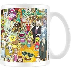 Rick y Morty personajes taza de café, cerámica, multicolor, 7,9x 11x 9,3cm