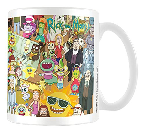 Cartoon Network Rick and Morty Characters Coffee Mug Kaffeetassen, Keramik, Mehrfarbig 7.9 x 11 x 9.3 cm (Cartoon Network Zeichen)