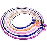 Chytaii Kit de Cercles de Broderie Tambour à Broder Cercle Point de Croix en Plastique Multicolore