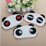 qiime atmungsaktiv und angenehmen Schlaf Augenklappe Sleep Brillen Cute Cartoon Panda Flanell Brillen
