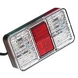 2er Set LED Rückleuchte Anhänger Weiß Blinklicht Rück & Bremslicht Reflektor 12V 24V Trailer Clear [A++] Neu Otto Harvest