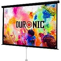 Duronic MPS100 /169 Ecran de projection à déroulement manuel 100 pouces 16:9/221 x 125 cm - Fixation mur ou plafond - 4K Full HD 3D