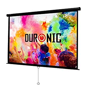 "Duronic MPS100/43 Manual Pull Down HD Home Theatre/Cinema/Office Projector Screen - 100""(Screen: 203cm(W) X 152cm(H))- 4:3 Widescreen- Matte White Screen - Wall, Ceiling mountable"