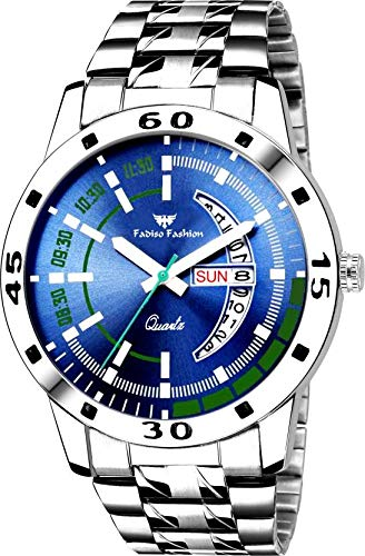 FF8074-BL Blue DAIL Day & Date Functioning