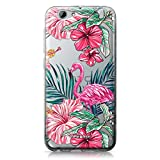 CASEiLIKE Coque HTC A9s , Flamant tropical 2239, TPU Silicone Soft Housse Etui Coque Pour HTC One A9s